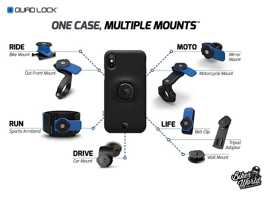 outlet store 906f2 b8743 QUAD LOCK Handlebar Mount Kit Cover iPhone 6 - 6s